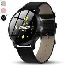 "TURNMEON Men's Stainless Steel Wear Touch Screen Smart Watch/ 1.3"" Color Screen Elegant Wrist/Heart Rate Blood Pressure Sleep Monitor Pedometer Calorie/ 5 Dial/Camera/Music Control"