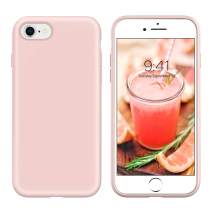 YINLAI iPhone SE 2020 Case, iPhone 8 and iPhone 7 Case Slim Liquid Silicone Hybrid Soft Gel Rubber Shockproof Bumper Protective Phone Cover for iPhone SE 2nd Generation/8/7 Girls Women Pastel Pink