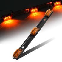 "Partsam Amber 12V LED Tow Truck Light Bars, LED Identification Bar Lights Marker Lights, 14.17"" Amber ID Bar Marker Lights, Truck Trailer Identification Light Bar for Trailers Over 80"" Wide"