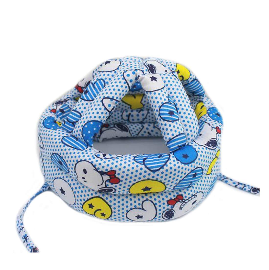 Ewanda store Toddler Infant Baby No Bumps Head Helmet Safety Helmet Children Headguard Head Cushion Bumper Bonnet,M,Blue Dog