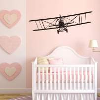 """Airplane Wall Decals for Boys Baby Kids Room Cool Airliner Silhouette Wall Sticker remoHome Decor Wallpaper (22.4"""" X 7.8"""")"""