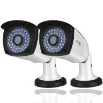 2 Pack PoE Camera, SV3C 3MP PoE IP Camera Outdoor Indoor One-Way Audio, HD 65-100FT IR Night Vision, ONVIF H.265 Video Compression Home IP Security Camera, IP66 Waterproof, Smart Motion Detection