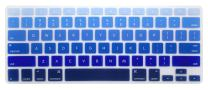 HRH Silicone Keyboard Cover Skin for MacBook Air 13,MacBook Pro 13/15/17 (with or w/Out Retina Display, 2015 or Older Version)&Older iMac USA Layout,Ombre Blue