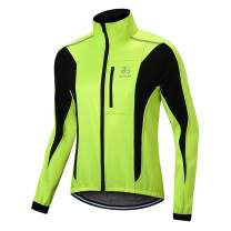 OUTON Men's Cycling Jacket Windproof Breathable Lightweight Reflective Warm Thermal Water-Resistant MTB Mountain Bike Jacket
