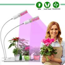 Red Blue Full Spectrum Grow Lamp, Professional LED Grow Light for Indoor Plants, Adjustable Gooseneck Plant Light with Replaceable Dual Head, for Indoor Plants Seeding Veg and Flower