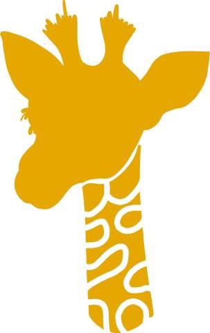 hBARSCI Giraffe Vinyl Decal - 5 Inches - for Cars, Trucks, Windows, Laptops, Tablets, Outdoor-Grade 2.5mil Thick Vinyl - Mustard