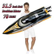 """31.5"""" Large Remote Control Speedboat for Adults, S2.0 Pro RC Brushless Boat Submarine 70km/h+ Global Limited Sales, Two 4200 mAh Battery for Power at Same time"""
