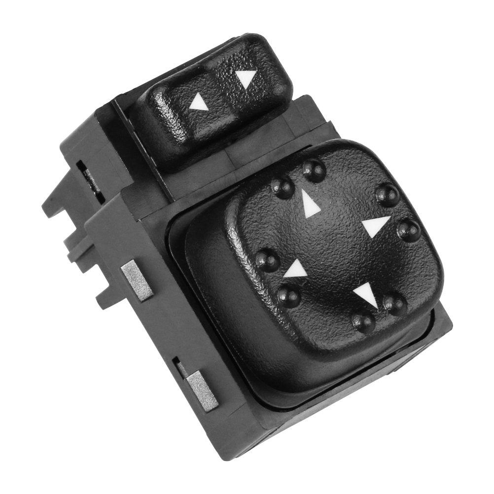 Power Mirror Switch - Replaces 901124, 15045085, 19259975 - Fits 2000-2002 Chevy Silverado 1500, 2500, 3500, Suburban 1500, 2500, Tahoe, GMC Sierra 1500, 2500, Yukon, XL 1500, XL 2500 - Side Mirrors