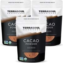 Terrasoul Superfoods Organic Cacao Powder, 3 Lbs (3 Pack) - Raw | Keto | Vegan