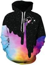 FLYCHEN Mens Hoodies Fashion Active Hoodies Pullover Printed Hooded Sweatshirt