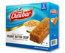 Peanut Butter Crisp Classic Flavored Snack Bar -Rich and Delicious Filling, Certified Kosher Peanut Butter Chewbar , A Perfect Tasty Sweet Treat - Chewzy