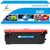 True Image Compatible Toner Cartridge Replacement for HP 508X CF361X 508A CF361A Color Laserjet Enterprise M553dn M553n M577dn M553x M552dn M577 M533 Printer Ink (Cyan, 1-Pack)