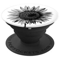 Black and White Sunflower Pop Socket Sunflower Lovers Gift