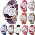 Yunanwa 10 Pack Wholesales Women's Leather Watch Quicksand Bracelet Ladies Dress
