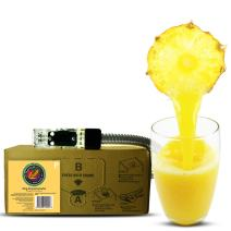 Bar Beverages King Kamehameha Craft Pineapple Juice (3 Gallon Bag-in-Box Syrup Concentrate) - Box Pours 15 Gallons of Pineapple Juice - Use with Bar Gun, Soda Fountain or SodaStream