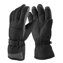 Keegud Ski Gloves for Men and Women Waterproof Windproof Snow Skiing Snowboarding Snowmobile Gloves for Winter Outdoors