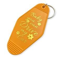 XGALBLA 2 Pcs Vintage Key Tag Hotel Motel Keychain