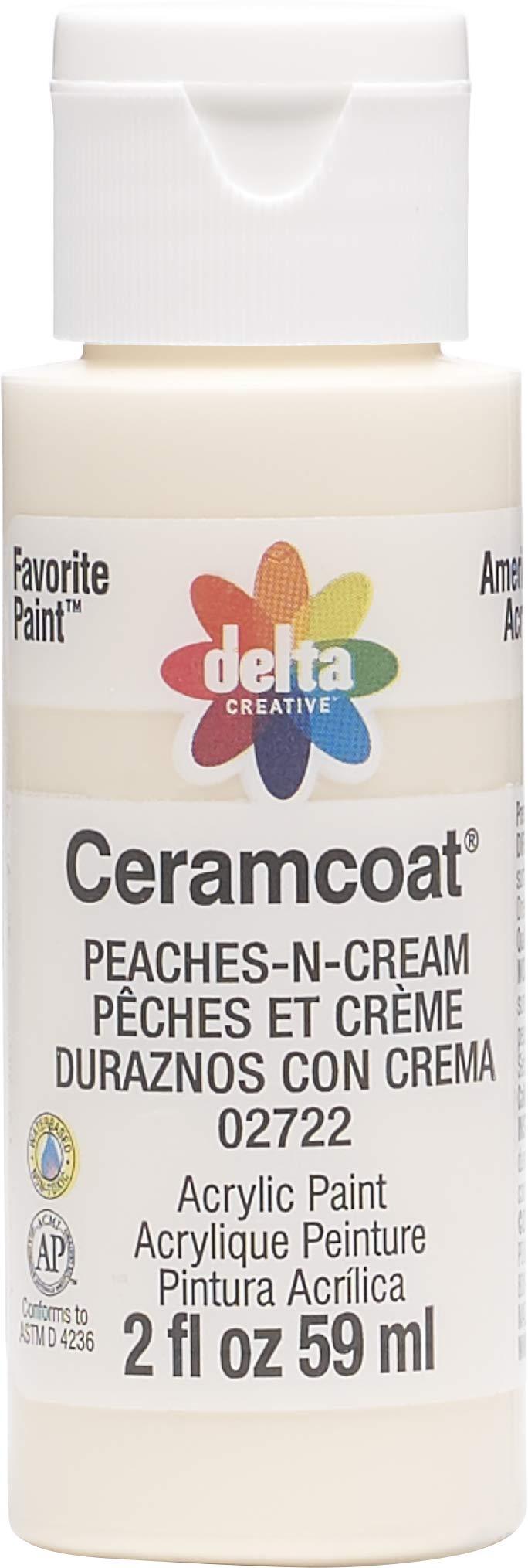 Plaid:Delta 02722 Ceramcoat Acrylic Paint, 2 oz, Peaches-N-Cream