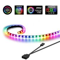Extended 19.7in / 50cm Magnetic RGB LED Strip Light for PC Case, Speclux 5V 3 Pin Header Addressable LED Strip, Dream Color Light for ASUS Aura SYNC/MSI Mystic Sync/ASROCK Aura RGB/GIGABYTE RGB Fusion