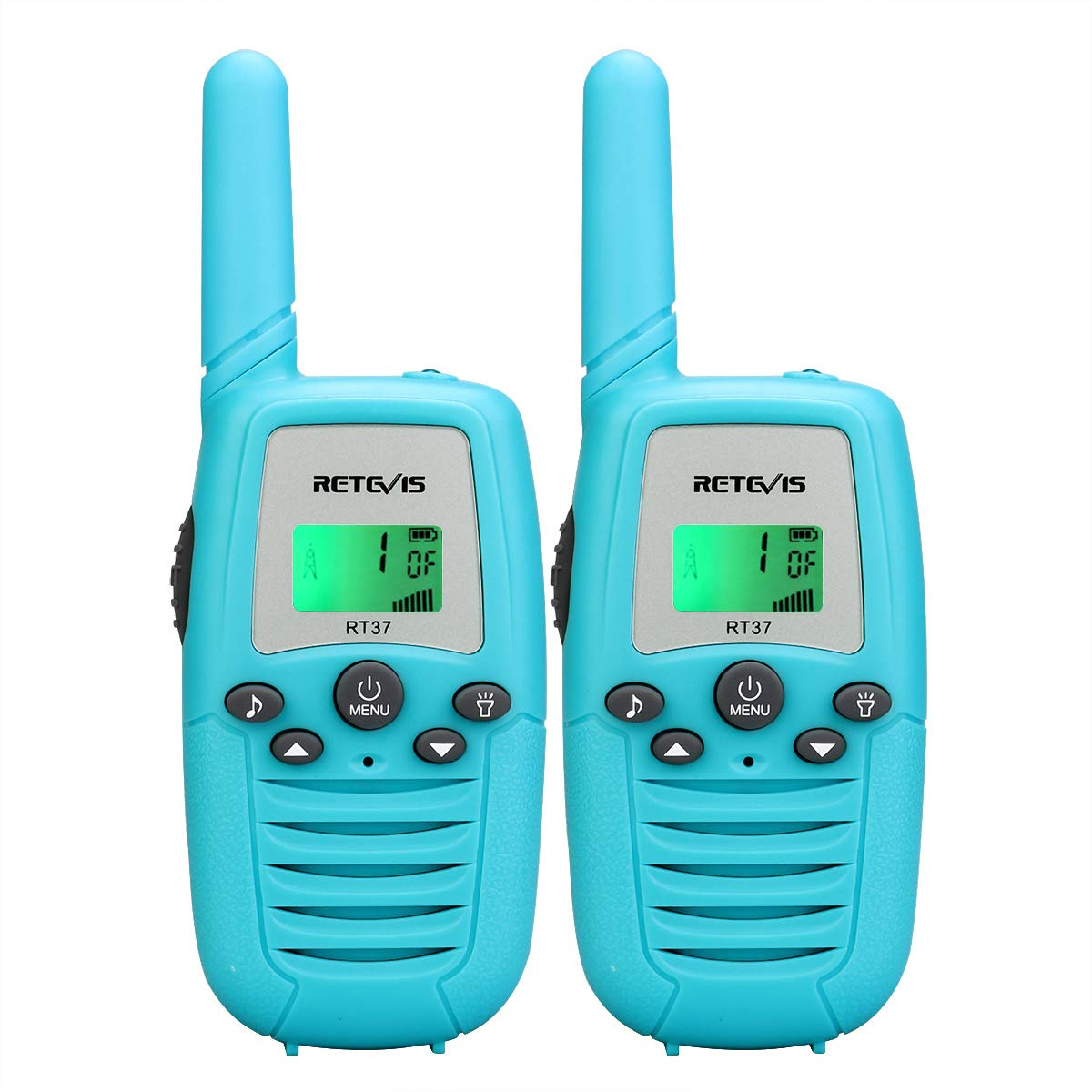 Retevis RT37 Kids Walkie Talkies Gifts Toys for 3-12 Year Old Boys Handheld 2 Way Radio Toy VOX FRS 22CH 99 Pricacy Code Flashlight Long Range Walkie Talkies(Blue, 2 Pack)