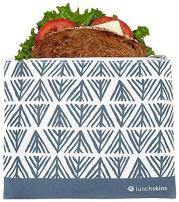 Lunchskins Reusable Zippered Sandwhich Bag, Food Bag, Storage Bag, Blue Geometric