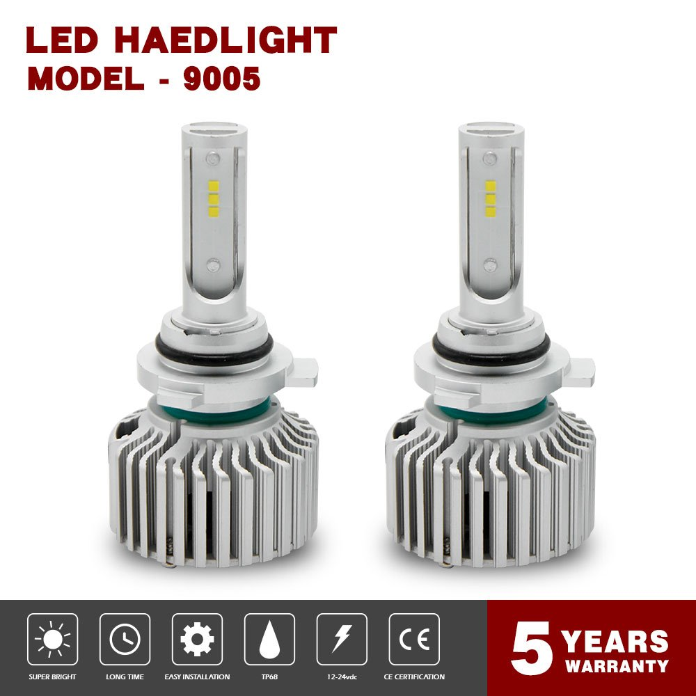 Globled 9005 LED Headlight Bulb Kit Canbus 200W 20000LM Driving Light Beam 6000K White