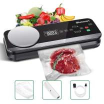 Vacuum Sealer Blusmart 80Kpa Full Automatic Vacuum Food Sealer Machine with Kitchen Scale & LCD Display,Dry & Moist Food Modes,Vacuum Air Sealing System For Food Saver