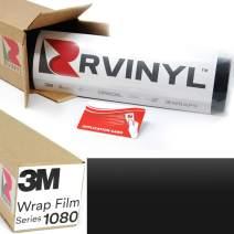 3M 2080 M22 Matte DEEP Black 5ft x 10ft W/Application Card Vinyl Vehicle Car Wrap Film Sheet Roll