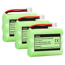 iMah 89-1323-00-00 Battery Pack Compatible with AT&T 27910 Motorola SD-7501 Vtech I6725 RadioShack 23-959 Cordless Phone 3.6V Ni-MH, 3-Pack