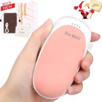 YeeWell Hand Warmers Rechargeable,5200mAh USB Portable Pocket Power Bank,Portable USB Hand Warmer Heater Battery Pocket Warmer