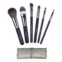 Docolor 6Pcs Makeup Brush Set with Travel Case Professional Face Eye Makeup Brushes Kit