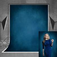 Allenjoy 5x7ft Abstract Deep Blue Texture Backdrop Old Master Style Retro Headshots Background for Wedding Photography Photo Studio Shoot Props