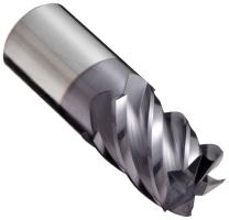 """YG-1 E5066 Carbide Square Nose End Mill, TIALN Multilayer Finish, Non-Center Cutting, 45 Deg Helix, 5 Flutes, 2"""" Overall Length, 0.25"""" Cutting Diameter, 0.25"""" Shank Diameter"""