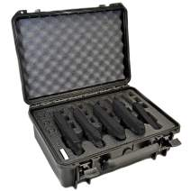 5 Pistol 18 Magazine Doro Gun Case with Custom MyCaseBuilder Foam Insert - Waterproof, Heavy Duty - Tactical Firearms and Ammunition Holder, 18 x 14 x 7 Inches