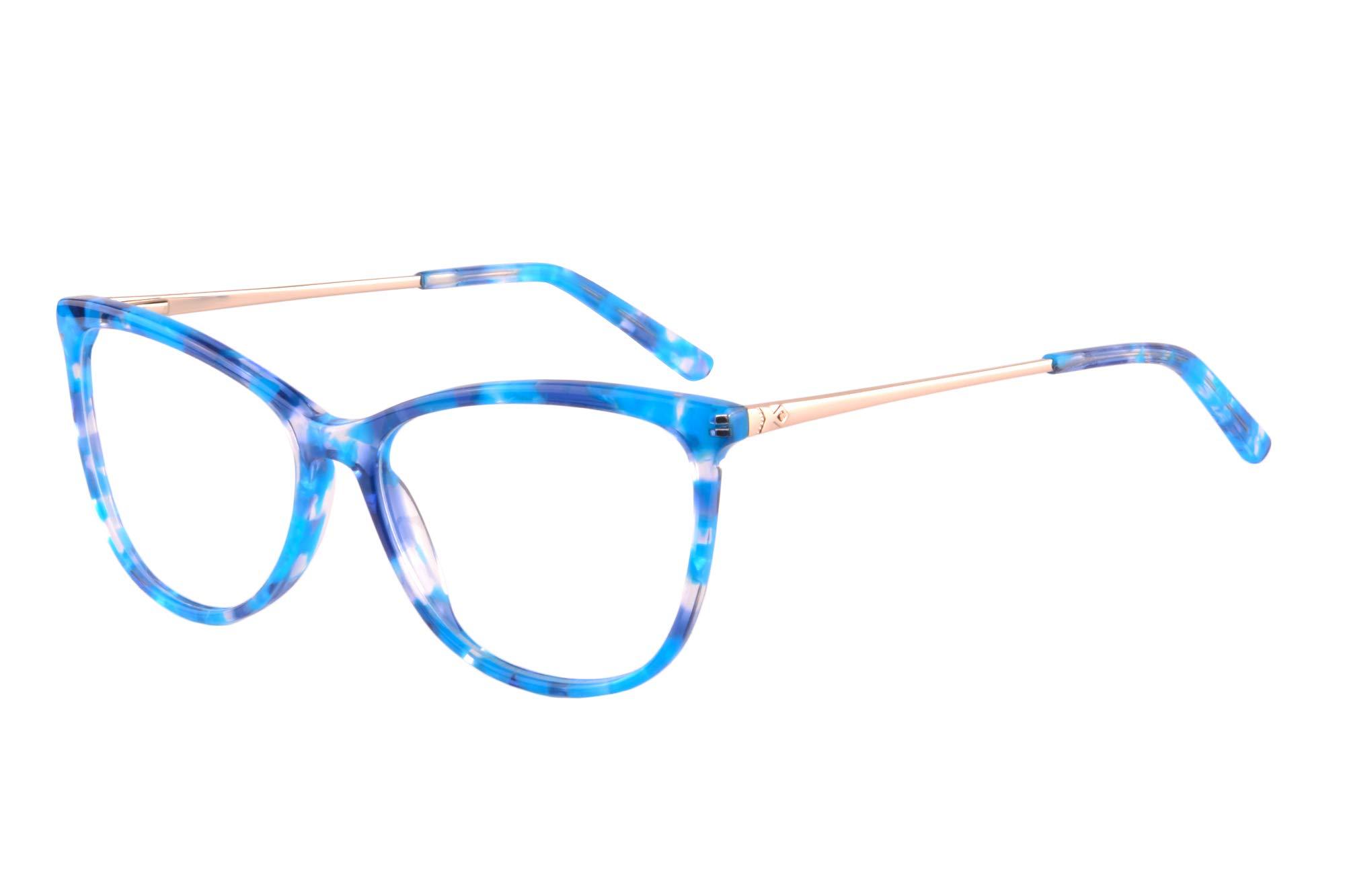 UOOUOO Womens/Mens Acetate Cateye Computer Gaming Glasses, Anti-blue Light, Filter Harmful Rays-RD147