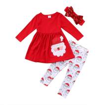 Toddler Baby Girl Clothes Infant Outfits Set with Long Sleeve Tops Dress Pants Leggings Girl Clothes Sets