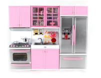 """Modern Kitchen Battery Operated Toy Kitchen Playset, Perfect for 11.5"""" Tall Dolls"""