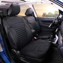 EKR Custom Fit Full Set Car Seat Covers for Select Subaru Forester 2014 2015 2016 2017 2018 - Leatherette (Black)