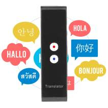 Smart Language Translator Device, Real Time Two Way Voice Translator Support 44 Languages Chinese English French Japanese Spanish Russian for Learning Business Travel Meeting (Black)