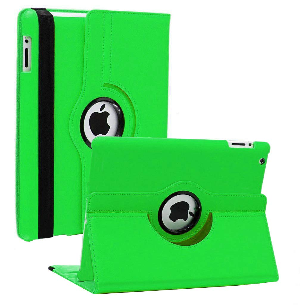 iPad Mini 1/2/3 Case - 360 Degree Rotating Stand Smart Cover Case with Auto Sleep/Wake Feature for Apple iPad Mini 1 / iPad Mini 2 / iPad Mini 3 … (Green)