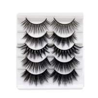 VGTE 3D Eyelashes Handmade False Eyelashes Set Professional Fake Eyelashes 5 Pairs Reusable Eyes Lashes (3D Mixed)