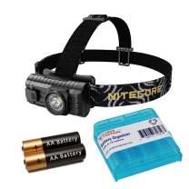 Nitecore HA23 250 Lumen Wide Angle 3 Ounce Ultra Lightweight Headlamp with 2xAA and LumenTac Battery Organizer