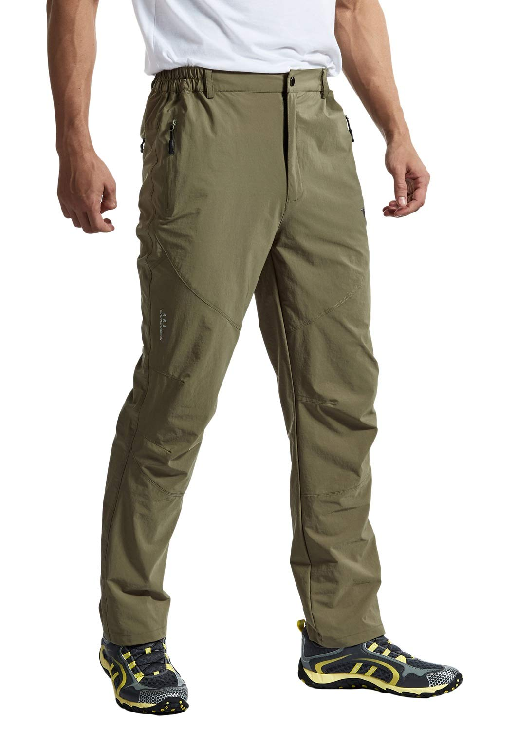 Rdruko Men's Outdoor Waterproof Stretch Hiking Climbing Mountain Travel Cargo Work Pants with Pockets