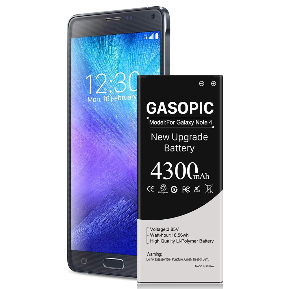 Galaxy Note 4 Battery 4300mAh Li-Polymer Replacement Battery for Note 4 N910, N910U 4G LTE, N910V(Verizon), N910T(T-Mobile), N910A(AT&T), N910P(Sprint) Samsung Note 4 Battery [18 Month Warranty ]