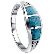 Southwestern Style Turquoise Gemstone Sterling Silver Ring