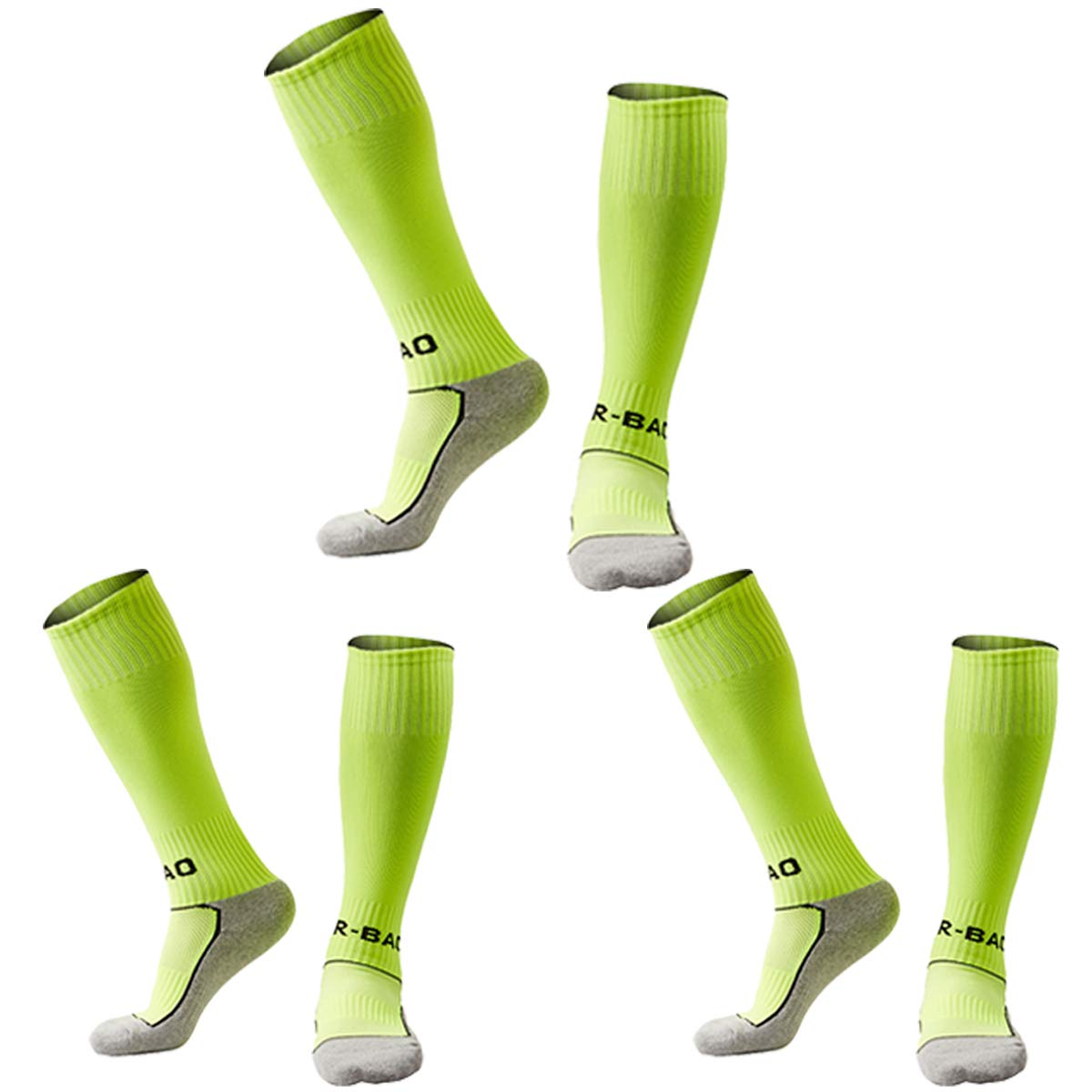 Kids Soccer Socks 5 Pack / 1 Pack Knee High Tube Socks Towel Bottom Pressure Football Socks (4-13 Years Little Kid/Big Kid)