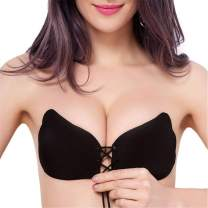 MITALOO Sticky Push Up Adhesive Invisible Backless Bra Magic Nipple Covers Strapless Bra
