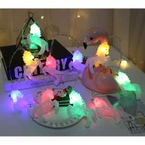 PGYFIS String Light Unicorn Shape 10 LED Light Battery Powered for Christmas Halloween Thanksgiving Holiday Decoration (Unicorn-Colorful)