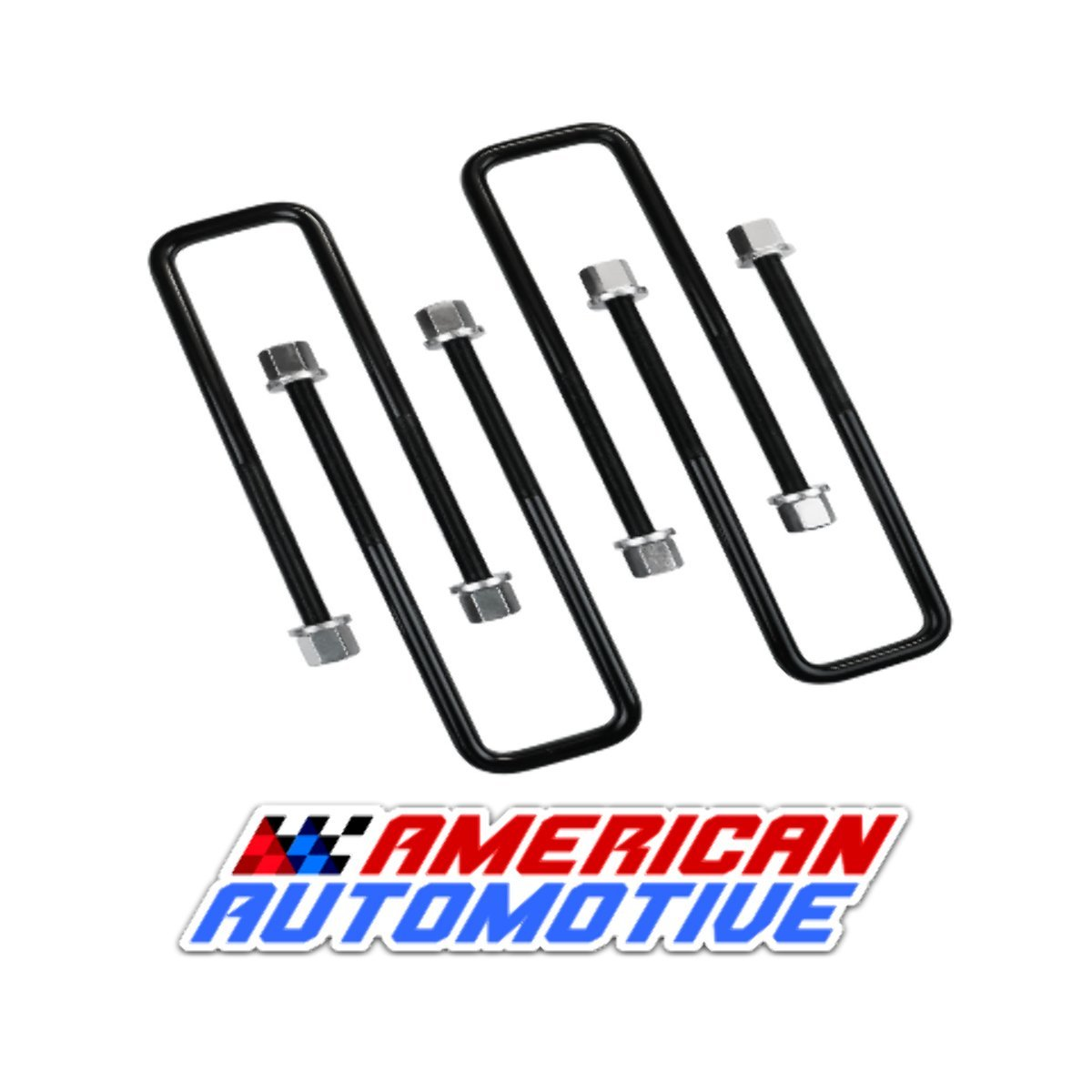 "American Automotive Compatible with Tundra 3"" Rear Suspension Lift U Bolts 4PCS 12.5"" Extra Long OEM Material"