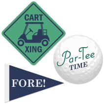 Big Dot of Happiness Par-Tee Time - Golf - DIY Shaped Baby Shower or Birthday Party Cut-Outs - 24 Count
